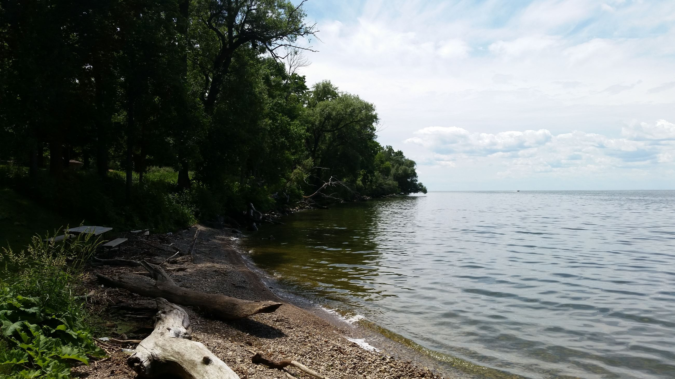 Lakeshore line on lake winnebago.